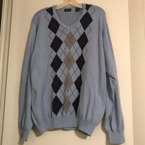 Vintage IZOD blue diamond sweater